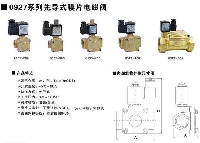 先导式膜片式电磁阀